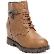 Ten Leather Tan Women Boot -tn09