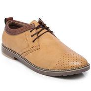Ten Beige Leather Casual Shoes -mtj23