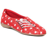 Ten Fabric Red Womes Sports Shoes -ts321
