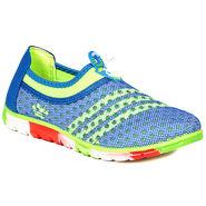 Ten Mesh Blue & Green Womes Sports Shoes -ts333