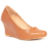 Ten Leather Tan Wedges -ts71