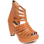 Patent Leather Tan Gladiator -wggldtrtan02