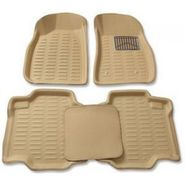 3D Foot Mats for Tata Indica V2 Beige Color-TGS-3D beige 122