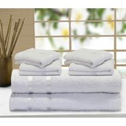 Story@Home 6 Pcs Premium Towel Combo 100% Cotton-White-TW1201_2X-2M