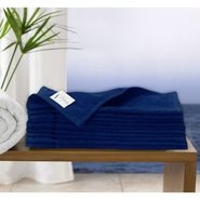 Story@Home Pack of 10 Face Towel 100% Cotton-Navy-TW1207-S