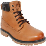 Yellow Tree Synthetic Leather Tan Boots -ys15s