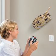 Wall Climbing Tank With Remote Control - Brown