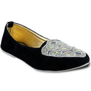 Ten Suede Leather Loafers For Women_tenbl083 - Black