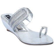 Ten Synthetic Sandals For Women_tenbl170 - Silver