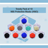 Trendy Pack of 10 N95 Protective Masks (HW3)