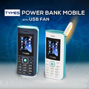 Tymes Power Bank Mobile with USB Fan