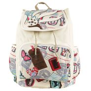 Tamirha Cotton Beige Backpack -UB16925