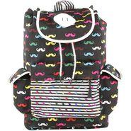 Tamirha Cotton Black Backpack -UB16931