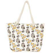 Tamirha Cotton White Handbag -UB16953