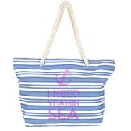 Tamirha Cotton White & Blue Handbag -UB16957