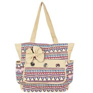 Tamirha Cotton Beige Handbag -UB16973