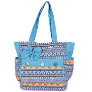 Tamirha Cotton Blue Handbag -UB16974