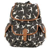 Tamirha Cotton Black Backpack -UB16975