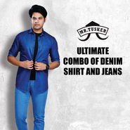 Ultimate Combo of Denim Shirt And Jeans by Mr. Tusker
