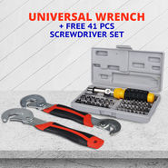 Universal Wrench + Free 41 Pcs Screwdriver Set