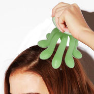 Set Of 2 Mini Cute Octopus Head Massager For Hair Growth