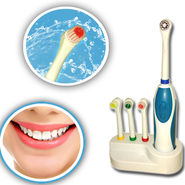 Battery Powered Rechargeable Toothbrush - 4 Attachments