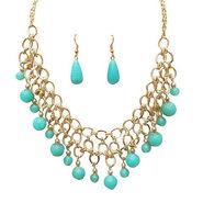 Urthn Antique Necklace Set - Blue - 1102566