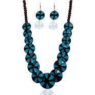 Urthn Elegant Necklace Set - Blue - 1103126
