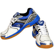 V22 Badminton Court Dark Blueand Yellow Shoes Size - 6