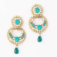Variation Rama Green Party Wear Dangle Earrings_Vd10677
