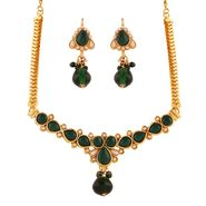 Variation Green Artificial Stone Necklace Set_Vd15381