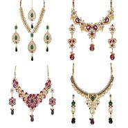 Combo of 4 Variation Nacklace Sets with Earrings_Vd15701