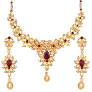 Variation Purple Color Pearl Necklace Set_Vd15757