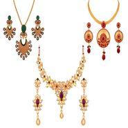 Combo of Variation Necklace Set + 2 Chain Pendent Sets_Vd15978