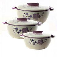 Rishabh Plast Solitaire Casserole Set Of 3