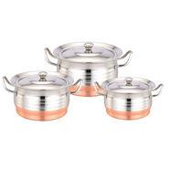 Klassic Vimal Copper Bottom Dish Set Of 3 Pcs- Dts Beauty