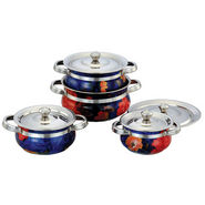 Klassic Vimal 8 Pcs Printed Serving Dish - Multicolor