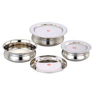 Set of 3Pcs Klassic Vimal Biryani Dish Set - Silver