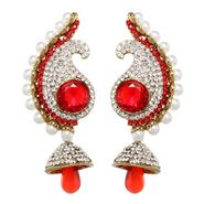 Vendee Fashion Blood Red Danglers Earrings - Red - 8385