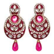 Vendee Fashion Pretty Traditional Earrings - Pink - 8389