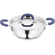 Vinod Signature 280mm Kadai With SS Lid - Silver