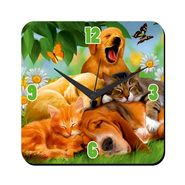 meSleep Dogs Digital Printed Wall Clock-WC-S-01-001