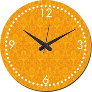 meSleep Mustard Self Print  Wall Clock With Glass Top-WCGL-02-26
