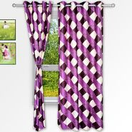 Story @ Home Purple 2 pc Window curtain-5 feet-WNR3014