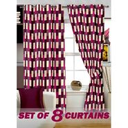 Set of 8 Printed  Window curtain-5 feet-WNR_4_3049