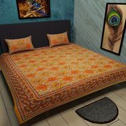 Manukunj Double Bedsheet With 2 Pillow Covers-WORLD7