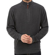 Branded Plain Full Sleeve Half Zipper Sweater_Wrdgy - Dark Grey