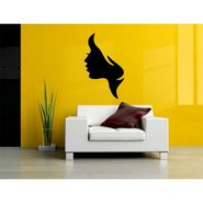 Girl Face Decorative Wall Sticker-WS-08-035