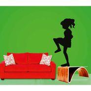 Funny Girl Decorative Wall Sticker-WS-08-102