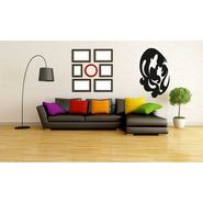 Black Couple Face Decorative Wall Sticker-WS-08-191